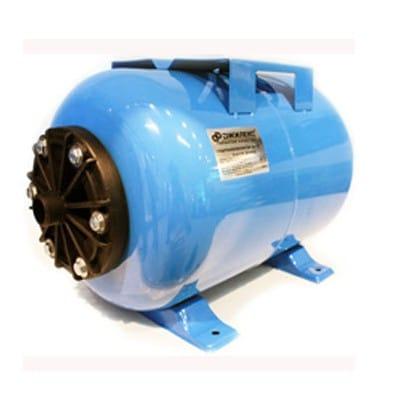 Гидроаккумулятор 80л горизонт. голубой 1