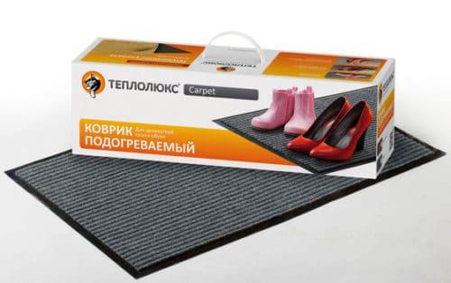 Коврик подогореваемый Теплолюкс-carpet 80*50 серый